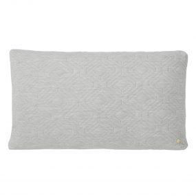 Quilt Cushion XL (Light Grey) by ferm LIVING