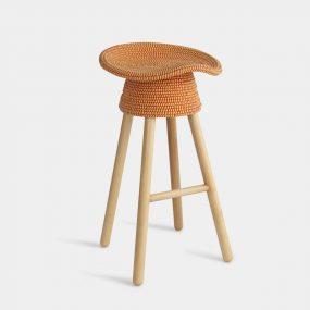 Coiled Counter Stool in Red by Umbra Shift