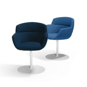 Mood Swivel Chair in Blue by Artifort