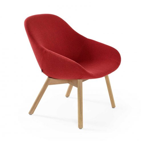 Beso Lounge Chair with wood legs by Artifort