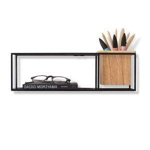 CUBIST SMALL SHELF (BLACK) by Umbra
