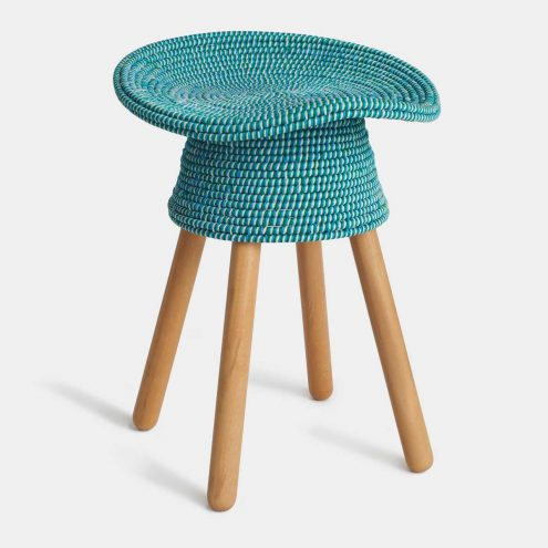 Coiled Stool in Aqua by Umbra Shift