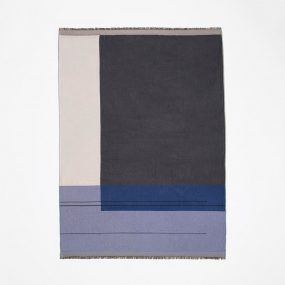 Color Block Throw (Blue) by ferm LIVING