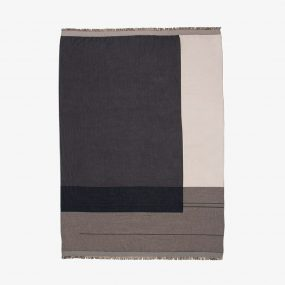 Color Block Throw (Grey) by ferm LIVING
