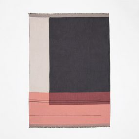 Color Block Throw (Rose) by ferm LIVING