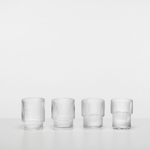 RIPPLE GLASS (SET OF 4) by ferm LIVING