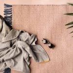 ferm LIVING beach towel and outdoor rug