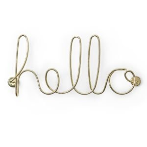 Wired Hello (Brass) Designed by Umbra |  Umbra