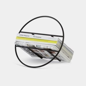 Hoop Magazine Rack (Black) Designed by Umbra Studio | Umbra Shift