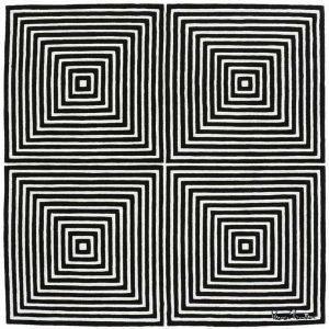 VP1 BW Rug Designed by Verner Panton | Designer Carpets