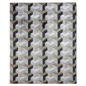 VP Ypsilon Grey Rug Designed by Verner Panton | Designer Carpets